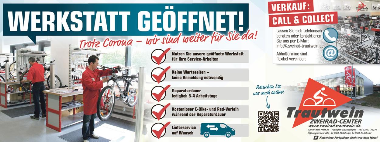 Werkstatt geöffnet - Abholung & Lieferung von Fahrrädern & E-Bikes