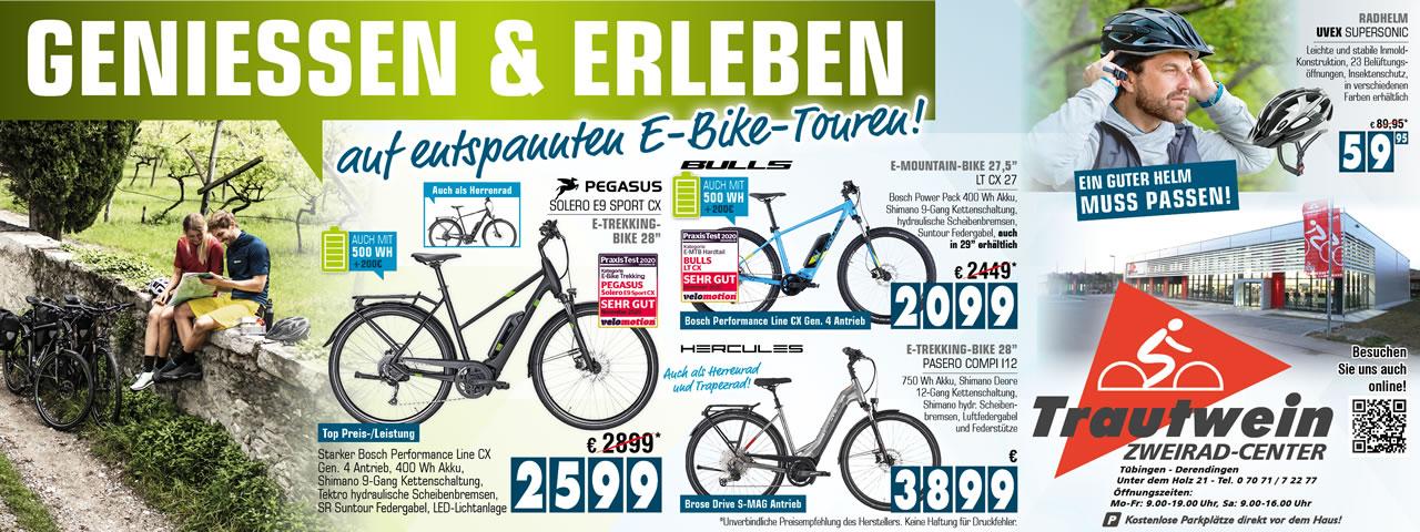 Genießen & Erleben auf entspannten E-Bike-Touren